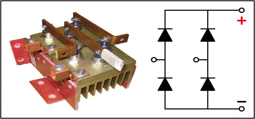Схема диодной сборки из 4-х диодов